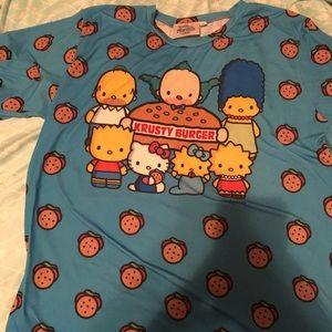Japan LA Simpson's Hello Kitty T-shirt